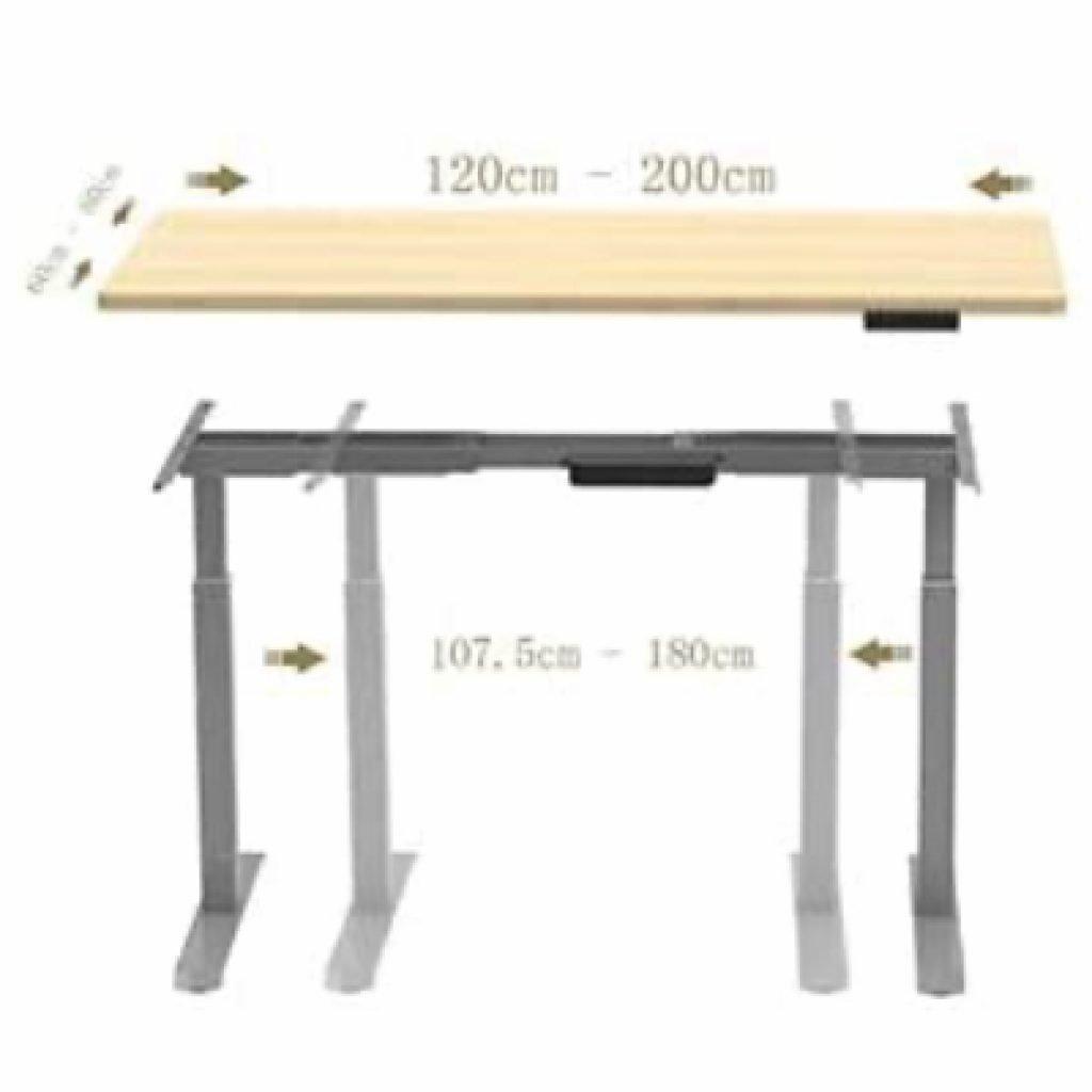 medidas de mesa ajustable en altura Aimezo